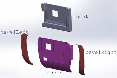 Exploded View of Mount